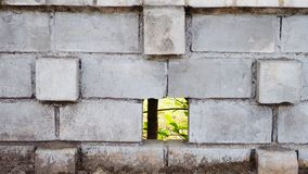 Wall brick. Gray brick wall in nature little bit dirty Royalty Free Stock Photo