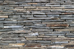Wall of gray stone texture Stock Images