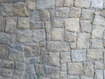 Wall of gray stones, paralelepipedo, gray background, pattern with gray stones. stock image