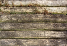 Wall gray wooden texture with horisontal lines. Background image Royalty Free Stock Images