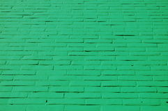 A wall with green bricks Royalty Free Stock Photo
