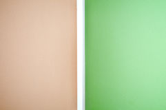 Wall, green-brown Stock Images