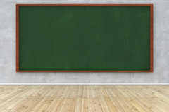 Wall with green chalkboard Stock Photo
