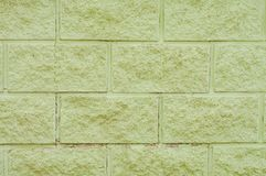 wall of green concrete blocks stock images
