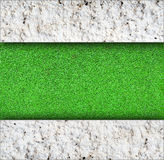 wall with green grass background stock photo