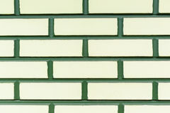 Wall Green Yellow Brick Background Royalty Free Stock Photography