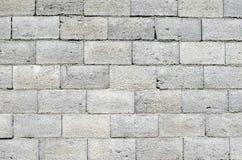 Wall of grey concrete blocks Stock Photos