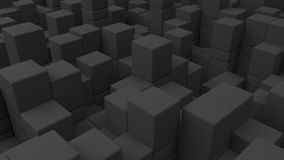 Wall of grey cubes. Abstract 3d background. 3D render illustration Royalty Free Stock Photo