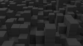 Wall of grey cubes. Abstract 3d background. 3D render illustration Royalty Free Stock Images