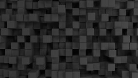 Wall of grey cubes. Abstract 3d background. 3D render illustration Stock Photos