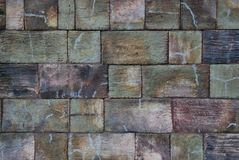 A wall. A grey solid stony wall Royalty Free Stock Images