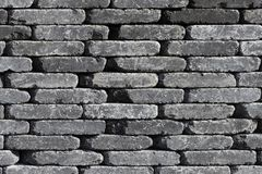 Wall with grey stones Royalty Free Stock Photos