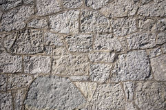 Wall grooved. Textured old gray stone wall background Stock Images