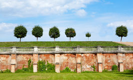 Wall and grounds at Peterhof Stock Photo