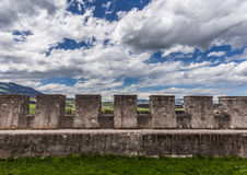 Wall of Gruyere Castle Stock Image