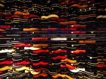 Wall of guitars, Hard Rock cafe, New York. The wall of guitars, Hard Rock cafe. Times Square. New York Royalty Free Stock Photo
