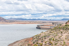Wall of the half full Gariep Dam Royalty Free Stock Photography
