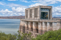 Wall of the half full Gariep Dam Royalty Free Stock Image