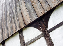 The wall of half timbered house Royalty Free Stock Photos