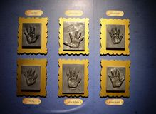 Wall of Hand Prints Royalty Free Stock Photography