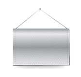 Wall hanging blank template banner Royalty Free Stock Image