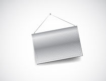 Wall hanging blank template banner Stock Photography