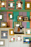 Wall hanging picture frames stock photography