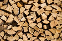 Wall of harvested wood Royalty Free Stock Photos