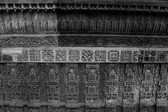 Wall heritage black and white patterns Royalty Free Stock Images