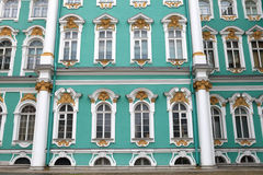 Wall of the Hermitage building. It is a museum of art and culture in Saint Petersburg, Russia. One of the largest and oldest museums of the world, it was Royalty Free Stock Photo