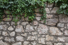 Wall of hewn natural stone Stock Image