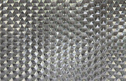 Wall hexagon glass Stock Images