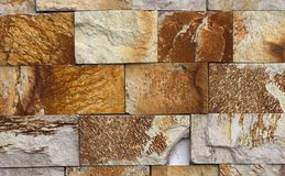Wall of high quality travertine or thermolith. Blank for background or tile royalty free stock photo
