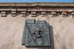 Wall of the historic Jewish Cemetery in Okopowa Street in the area of the Jewish Ghetto, Warsaw Poland Royalty Free Stock Photo