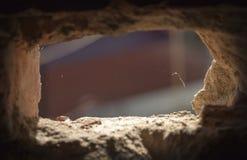 Wall hole light Stock Photo