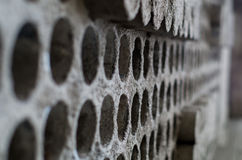 Wall with holes Stock Photos