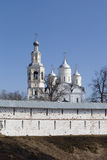 Wall Holy Prilutsk Spassky monastery and cathedral. Vologda, Russia Stock Photo