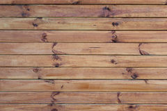 Wall with horizontal boards. Wooden wall texture with horizontal boards Stock Image