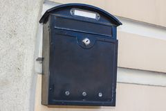Mailbox on the wall. stock images
