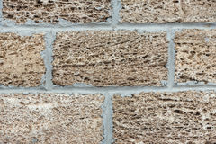 Wall of house from coquina Royalty Free Stock Images