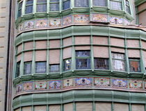 The wall of house in Eixample district of Barcelona Royalty Free Stock Photography