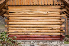Wall of the house from a frame, wooden house Royalty Free Stock Image