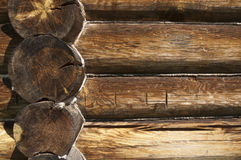 Wall of the house made of logs Royalty Free Stock Image