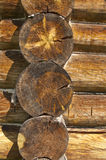 Wall of the house made ​​of logs Royalty Free Stock Image