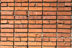 Wall of house from red brick Royalty Free Stock Photography