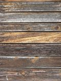 Wall of house upholstered by boards. Back background royalty free stock images