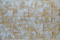 The wall of the house of white and brown stone Royalty Free Stock Photos