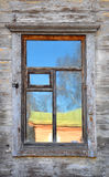 Wall of the house with window Stock Images