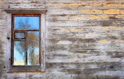 Wall of the house with window Royalty Free Stock Photos
