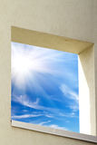 Wall   house  window   sun Royalty Free Stock Image